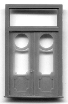 DBL DOOR WITH FRAME AND TRANSOM