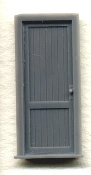 DOOR W/FRAME-2 TONGUE AND GROOVE PANELS