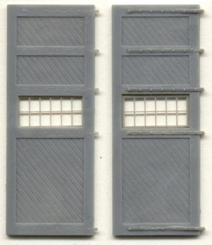 14'6″ x 19′ ROUNDHOUSE DOORS W/WINDOWS AND HINGES