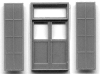 5′ x 9'7″ DOUBLE DOOR WITH IRON SHUTTERS