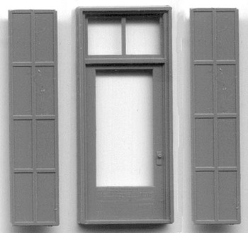 "4'2″ x 9""7″ SINGLE DOOR WITH IRON SHUTTERS"