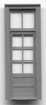 33″ DOOR W/ 6 PANE WDW AND TRANSOM