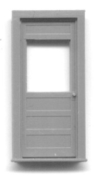 34″ x 6-10″ PANELED DOOR WITH WINDOW AND FRAME