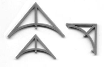 VICTORIAN BRACKETS: LARGE GABLE BRACKET ( 80° included)  SMALL GABLE BRACKET ( 80° included) EAVE BRACKET (90° included)