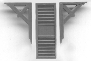 EAVE BRACKET AND LOUVERED VENT