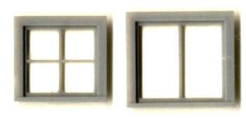 ATTIC WINDOW SET–SINGLE SASH 28″x 28″ 4 LIGHT 34″x 32″ 2 LIGHT
