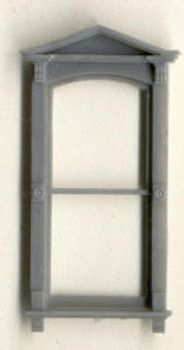 VICTORIAN WINDOW WITH TRIANGLE PEDIMENT DOUBLE HUNG–1/1 LIGHT