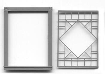 DIAMOND WINDOW AND FRAME