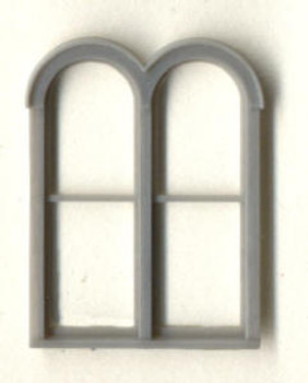 4'6″x 6'3″ DOUBLE ROUND -TOP WINDOW DOUBLE HUNG–1/1 LIGHT