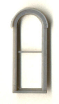 2'x 6′ SINGLE ROUND-TOP WINDOW DOUBLE HUNG–1/1 LIGHT