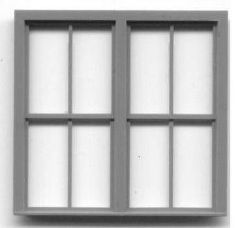 78″ x 78″ DOUBLE WINDOW DOUBLE-HUNG WINDOW–2/2 LIGHT,