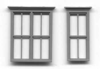 VICTORIAN WINDOW SET 1 DOUBLE WINDOW 2 SINGLE WINDOWS 30″ x 61″ SASH, DBL HUNG