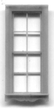 32″ x 80″ QUEEN ANNE SINGLE WINDOW DOUBLE HUNG –4/4 LIGHT