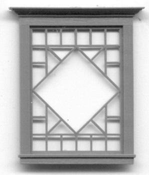 DIAMOND PATTERNED PICTURE WINDOW