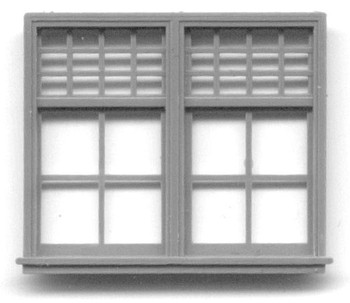 35″ x 48″ DOUBLE WINDOW DOUBLE HUNG-32 LIGHT Yosemite Valley RR/Bagby Station