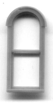 24″ x 72″ ROUND PEDIMENT WINDOW DOUBLE HUNG