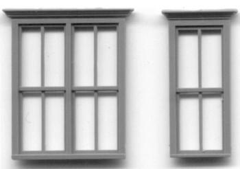 VICTORIAN WINDOW SET 1 DOUBLE WINDOW 2 SINGLE WINDOWS 28″ x 75″ SASH, DBL HUNG