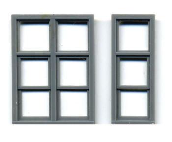 30″ X 88″ SINGLE WINDOW (3 LIGHT) DOUBLE HUNG 64″ X 88″ DOUBLE WINDOW (6 LIGHT) DOUBLE HUNG