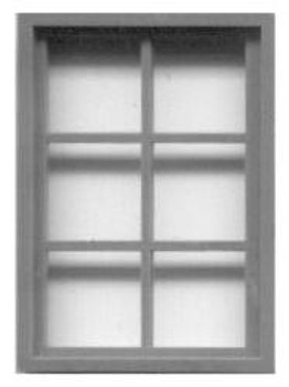 42″x 30″ FACTORY WINDOW  FIXED SASH–6 LIGHT  (for masonry buildings)
