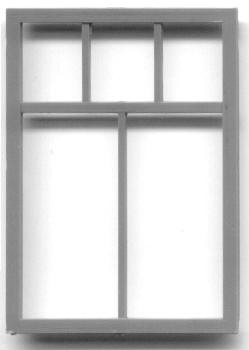 56″ x 82″ COMMERCIAL WINDOW  SINGLE SASH–5-LIGHT (fits in 1.280 x 1.825 opening)