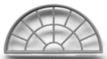 56″ X 28″ HALF ROUND WINDOW—-13 PANE  (for masonry buildings)