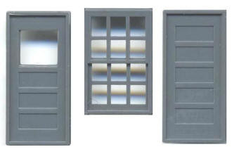 36″ X 56″ WINDOW 12 PANE 36″ DOORS (Masonry)