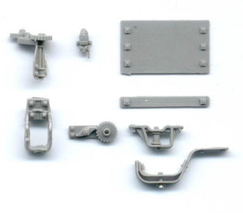 BRAKE STAFF BRACKETS W/ MISCELLANEOUS FITTINGS