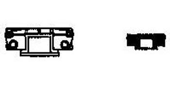 NARROW GAUGE 30′ REEFER CAR COUPLER POCKET