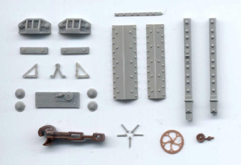 D&RGW HIGH SIDE GONDOLA HARDWARE contains: #1,3,4,43,75,109