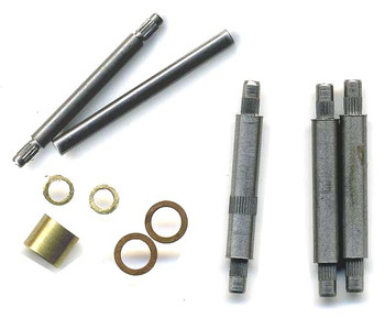 REPLACEMENT AXLES, SPACERS FOR BACHMANN MOGUL On30 LOCO ONLY