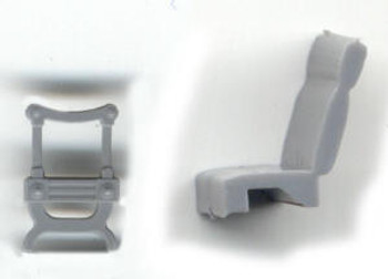 COACH SEATS WITH 2 WOOD ENDS-STANDARD GAUGE