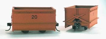 24″ GAUGE KOPPEL 4 WHEEL 3 1/2 YARD GABLE BOTTOM DUMP CAR (2)