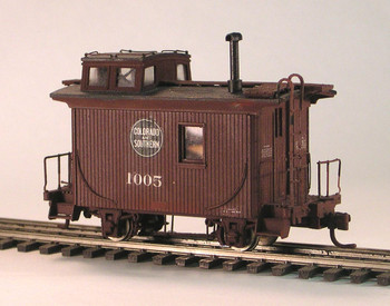 C&S CABOOSE #1005 4-WHEEL CABOOSE–HOn3 (KIT)