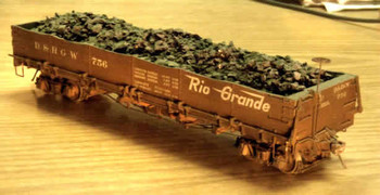 D&RGW 700 SERIES DROP BOTTOM GONDOLA–On3 (KIT) limited availability sold direct only–no dealers