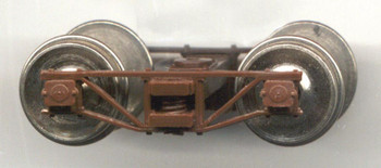 SR&RL ON30 ARCHBAR TRUCKS WITH NO WHEELSETS-BROWN DELRIN® (WILL FIT #37131-4 NSWL WHEELSETS)