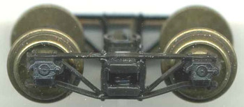 SR&RL HON30 ARCHBAR TRUCKS WITH NO WHEELSETS-BLACK DELRIN® 4'8″WB(WILL FIT #37450-4 NSWL WHEELSETS)