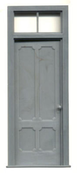 VICTORIAN 4 PANEL DOOR WITH 2 PANE TRANSOM