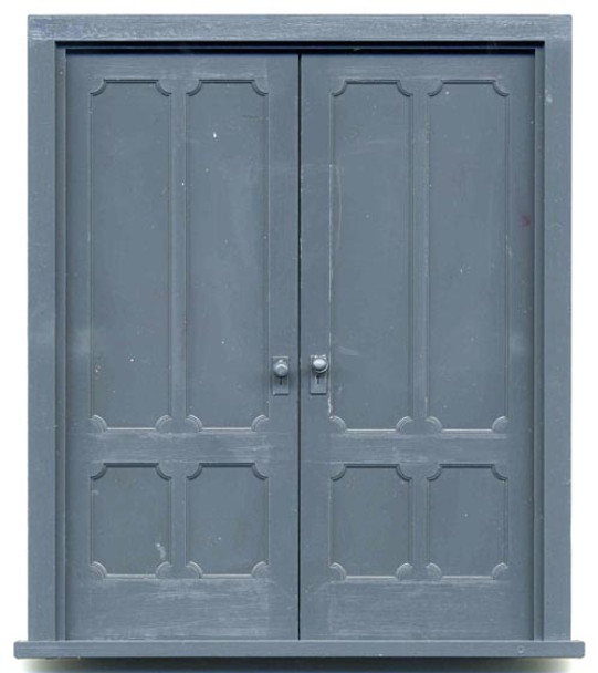 4-PANEL VICTORIAN DOUBLE DOOR with frame