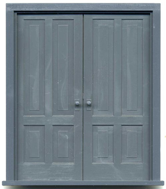 4-PANEL DOUBLE DOORS with frame