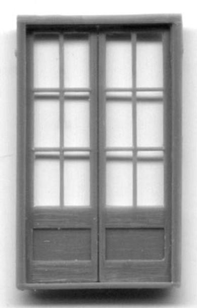 6'9″ ASSAY OFFICE DOUBLE DOOR-12 PANE
