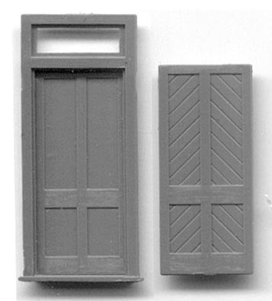 STATION DOOR W/FRAME AND TRANSOM