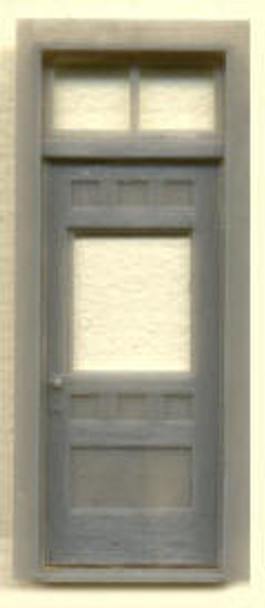 RGS STYLE  DEPOT DOOR W/WINDOW AND TRANSOM