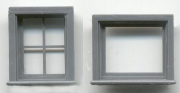 ATTIC/CABOOSE WINDOW SET 16″ x 20″ 4-LIGHT 24″ x 20″ 1- LIGHT
