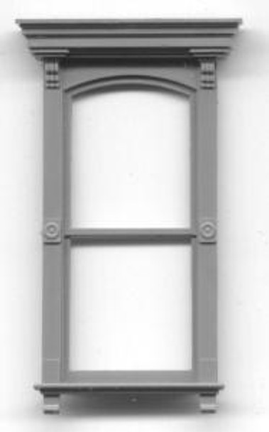 VICTORIAN WITH FLAT BOX PEDIMENT-DOUBLE HUNG–1/1 LIGHT