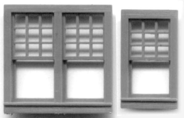 WINDOW SET 24″ x 44″ SINGLE -10 PANE 51.5″ x 51″ DOUBLE -20 PANE RGS Style Depot