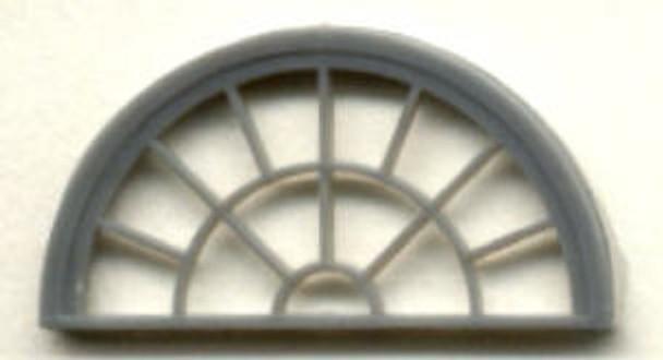 HALF ROUND WINDOW–13 LIGHT  (for masonry buildings)