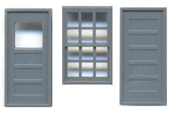 36″ X 56″ WINDOW 12 PANE 36″ DOORS (Masonry)