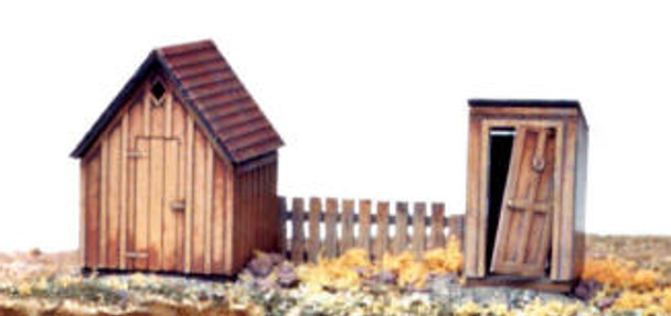 Outbuildings: Tool or Coal Shed and Outhouse