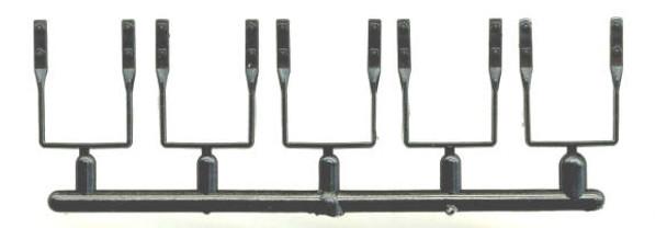 FREIGHT CAR STIRRUP STEPS-BLACK