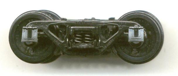 NARROW GAUGE 4'8″ WB TRUCKS CAST STEELFOR FRAMELESS TANK CARS BLACK DELRIN ®